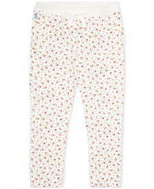 Polo Ralph Lauren Baby Girls Floral Mesh Joggers