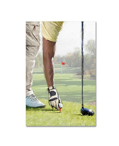 "Trademark Global The Macneil Studio 'Golf Player' Canvas Art - 47"" x 30"" x 2"""