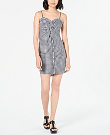 Twist-Front Gingham-Print Dress, Created for Macy's
