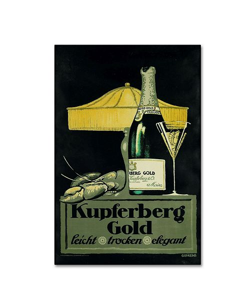 "Trademark Global Vintage Apple Collection 'Champagne Lobster' Canvas Art - 24"" x 16"" x 2"""