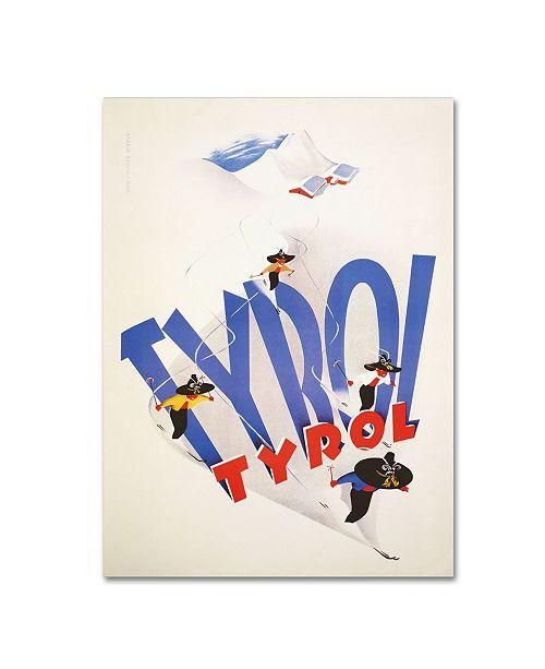 "Trademark Global Vintage Apple Collection 'Tyrolski' Canvas Art - 19"" x 14"" x 2"""