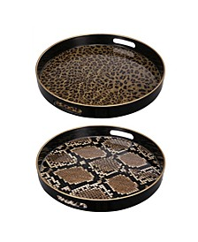 Quinn Round Trays, Safari, Set of 2