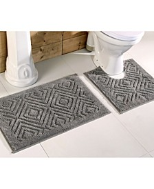 2 Piece Trier Bath Rug Set