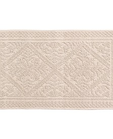 Jacquard Collection 2-Piece Set 100% Cotton Bath Rug