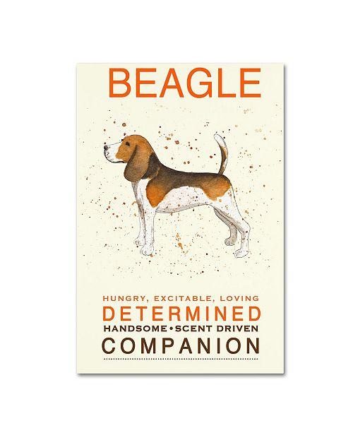 "Trademark Global Michelle Campbell 'Beagle Print' Canvas Art - 24"" x 16"" x 2"""