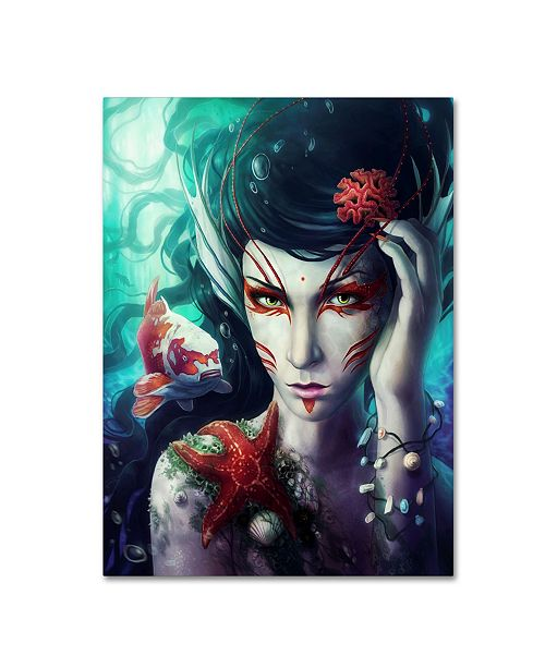 "Trademark Global JoJoesArt 'Deep Sea' Canvas Art - 19"" x 14"" x 2"""