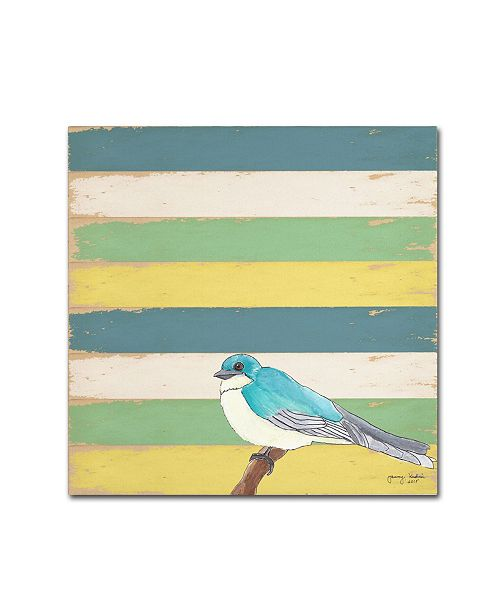 "Trademark Global Tammy Kushnir 'Little Blue Bird' Canvas Art - 18"" x 18"" x 2"""