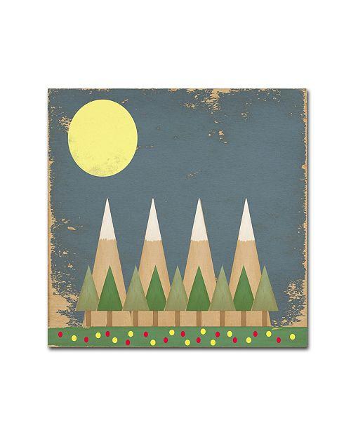"Trademark Global Tammy Kushnir 'Moonlight In The Forest' Canvas Art - 14"" x 14"" x 2"""