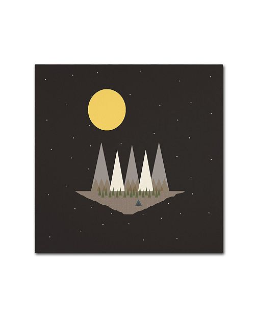 "Trademark Global Tammy Kushnir 'Camping On the Edge of the World' Canvas Art - 35"" x 35"" x 2"""