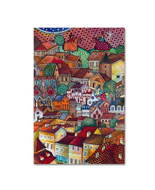"""Trademark Innovations Oxana Ziaka 'The New Middle-Ages' Canvas Art - 24"""" x 16"""" x 2"""""""