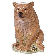 Mountain Retreat 3-D Bear Cookie Jar
