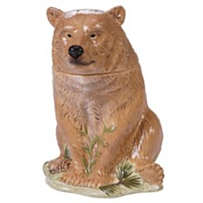 Certified International Mountain Retreat 3-D Bear Cookie Jar
