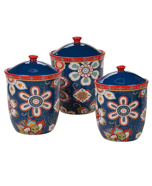 Certified International La Vida 3-Pc. Canister Set