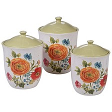 Country Fresh 3-Pc. Canister Set