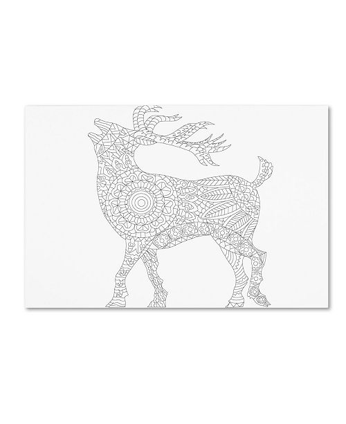 "Trademark Global Miguel Balbas 'Deer' Canvas Art - 47"" x 30"" x 2"""
