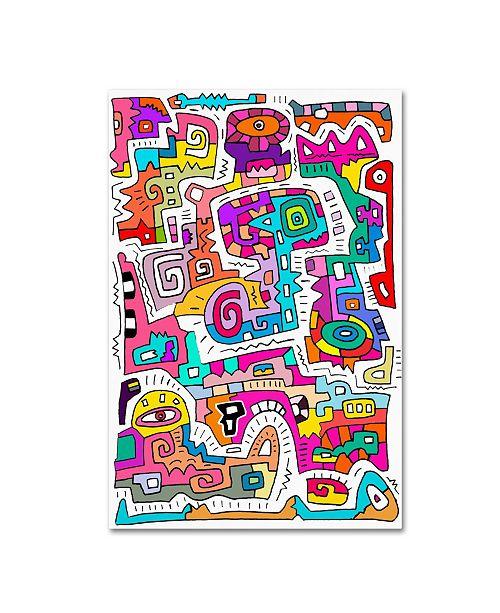 "Trademark Global Miguel Balbas 'Circuits IV' Canvas Art - 24"" x 16"" x 2"""