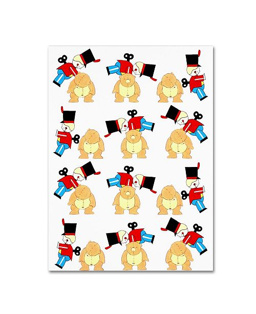 """Trademark Global Miguel Balbas 'Soldier And Teddy' Canvas Art - 19"""" x 14"""" x 2"""""""