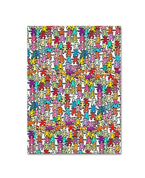 "Trademark Global Miguel Balbas 'Happy People II' Canvas Art - 19"" x 14"" x 2"""