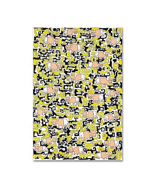 "Trademark Global Miguel Balbas 'Happy Babies 1' Canvas Art - 32"" x 22"" x 2"""