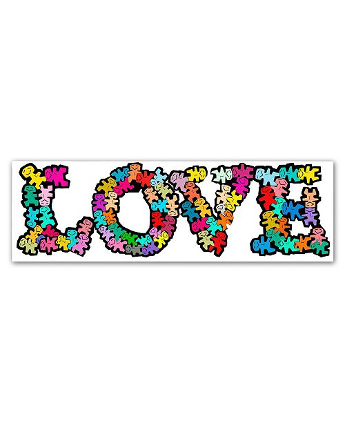"Trademark Global Miguel Balbas 'Love Letters' Canvas Art - 24"" x 8"" x 2"""