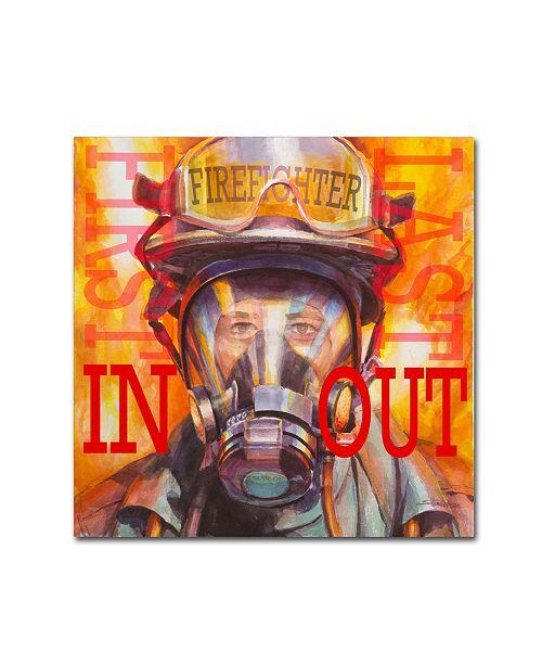 "Trademark Global Steve Henderson 'Firefight - First In Last Out' Canvas Art - 18"" x 18"" x 2"""
