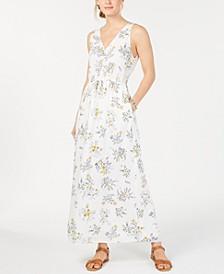 Flora Printed V-Neck Maxi Dress