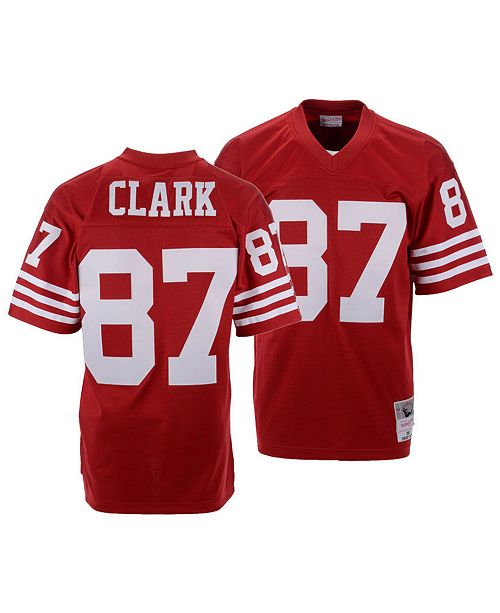lowest price 2914a 62648 Men's Dwight Clark San Francisco 49ers Replica Throwback Jersey