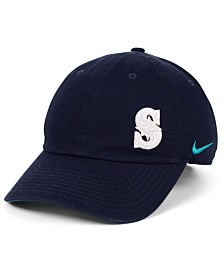 Nike Women's Seattle Mariners Offset Adjustable Cap