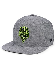 Authentic MLS Headwear Seattle Sounders FC Chambray Snapback Cap