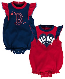 Outerstuff Baby Boston Red Sox Double Trouble Bodysuit Set