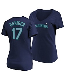 Majestic Women's Mitch Haniger Seattle Mariners Crew Player T-Shirt