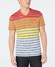 Men's Colorblocked Stripe V-Neck T-Shirt, Created for Macy's