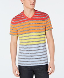 Alfani Men's Colorblocked Stripe V-Neck T-Shirt, Created for Macy's