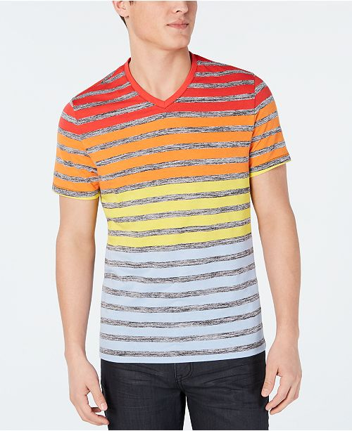 1415260a9944 ... Alfani Men's Colorblocked Stripe V-Neck T-Shirt, Created for Macy's ...