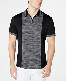 Men's Colorblocked Quarter-Zip Polo, Created for Macy's