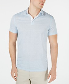 Alfani Men's Regular-Fit End-On-End Stripe Linen Blend Polo Shirt, Created for Macy's