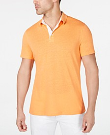 Men's Regular-Fit Linen-Blend Polo Shirt, Created for Macy's