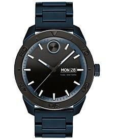 Movado Men's Swiss Bold Blue Ion-Plated Stainless Steel Bracelet Watch 43.5mm