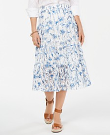 Tommy Hilfiger Paneled Lace Skirt, Created for Macy's