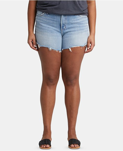 Silver Jeans Co. Trendy Plus Size Frisco Denim Shorts