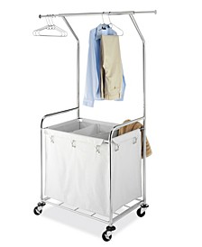 Commercial Rolling Laundry Center with Removable Liner