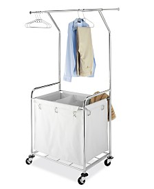 Whitmor Commercial Rolling Laundry Center with Removable Liner