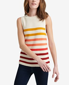 Lucky Brand Ombre Striped Sleeveless Sweater