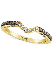 Chocolatier® Diamond Curved Band (1/3 ct. t.w.) in 14k Gold