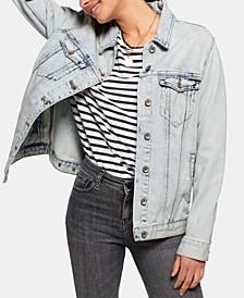 Cotton Denim Longline Jacket
