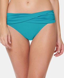 Bleu by Rod Beattie Fold-Over Sarong Hipster Bikini Bottoms