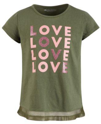 Little Girls Mesh-Hem T-Shirt, Created for Macy's