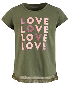 Ideology Little Girls Mesh-Hem T-Shirt, Created for Macy's