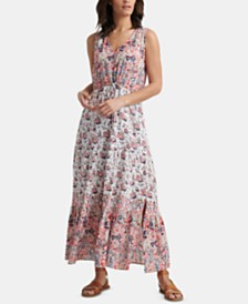 Lucky Brand Cotton Printed Chloe Maxi Dress