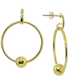 Giani Bernini Beaded Circle Drop Earrings in 18k Gold-Plated Sterling Silver, Created for Macy's